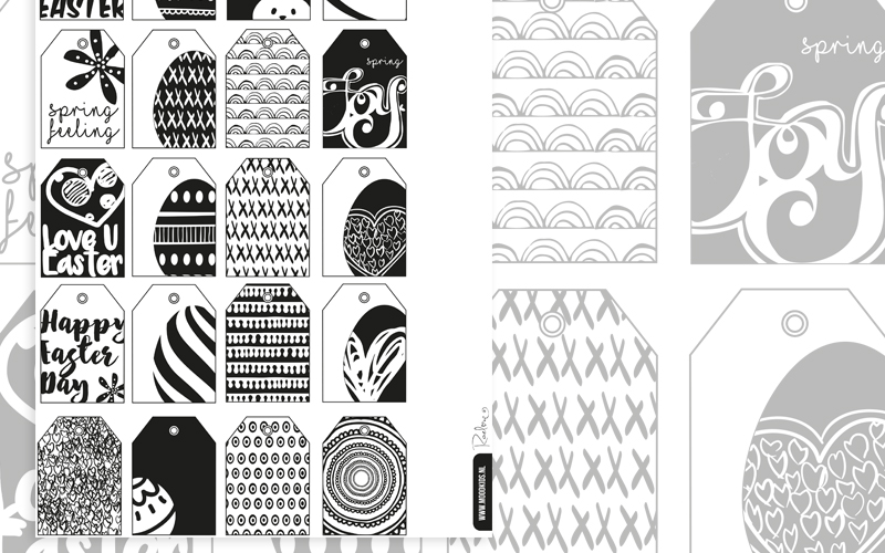 Paastak labels DIY voor Moodkids