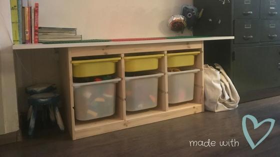 Opbergkast Trofast Ikea.Ikea Hack Ik Maakte Een Legotafel Van Het Trofast Systeem