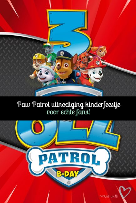 Bedwelming Paw Patrol uitnodiging kinderfeestje + WIN!   Roelove blogt &HX09